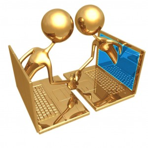 gold computer virtual meeting